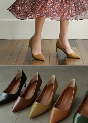"Botana Simple Stiletto Heel <font color=""#ed1558""><b>[Heel: 6cm]</b></font> <br> <FONT color=#980000>◆ Quantity left: Brown / 225 1Piece, Olive / 245</font> <br>"