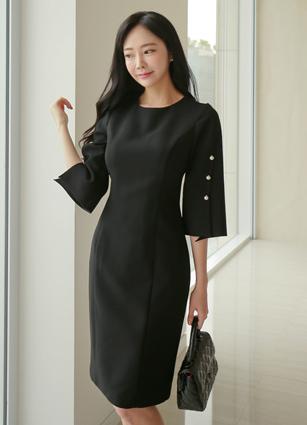 Essential Pearl Sleeve One-piece dress < <B>(S, M, L)</b>