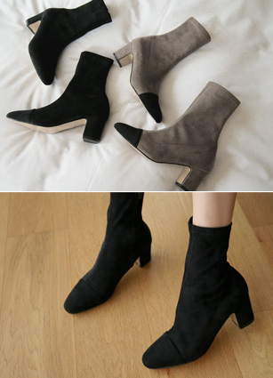 "Rookie Appearance Span ankle boots <font color=""#ed1558""><b>[Heel: 6cm]</b> <br></font>"