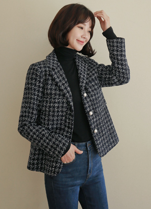 Corso Check Tweed Jacket <br>