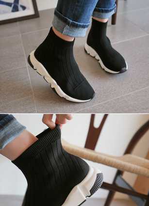 "Triple Span Sox Sneakers <font color=""#ed1558""><b>[Heel: 3.5cm]</b> <br></font>"