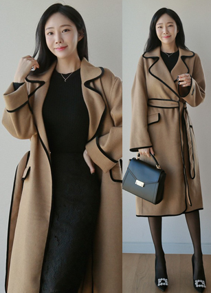 <FONT color=#980000>35% off the special price of the season ◆</font> <br> Cow Velvet Line Handmade Coat <br>
