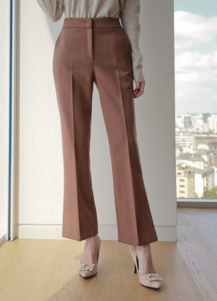 Cozy Side Date Slacks (S ~ L) <br> <FONT color=#980000>◆ Quantity left: Brown / L 1 sheet</font> <br>