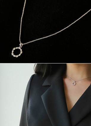 Milton Cubic Round Necklace <br>