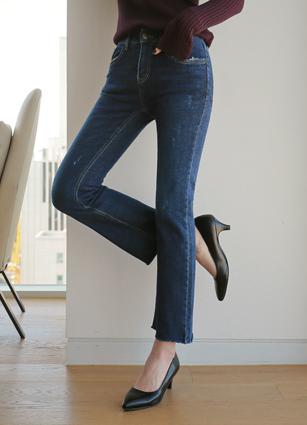 Kind Secret Bands Raising Slim Boots Cut Denim (223) <br> <B>(S to XL)</b>