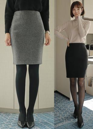 Becky H Wool Skirt <B>(S, M, L)</b>