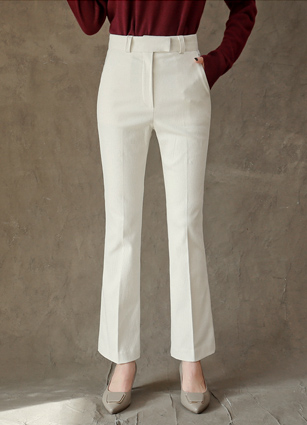 Corduroy Slim Boot Cut Pants (S, M, L) <br>