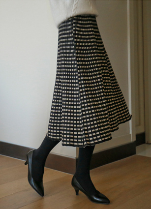 Day Square Knit Flare Skirt <br> [Review 59Piece] <br>