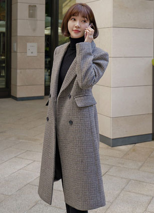 <FONT color=#980000>Seasonal special price20% discount</font> <br> Prosum Slim Wool Check Coat <br> <b>♤ Same Day Shipping ♤</b>
