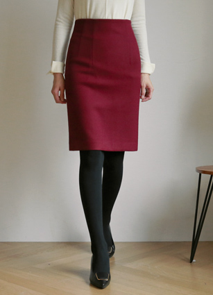 Rabbi Basic Banhigh Skirt (S, M, L) <br> <FONT color=#980000>◆ Remaining Quantity: Orange Brown / M 1 sheet</font> <br>
