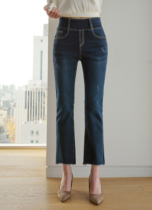 Second Brushed Lining Wide Banding Denim (902) <br> <B>(S to XL)</b>