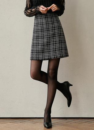 SHINee Tweed Pearl Skirt <B>(S, M)</b>