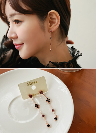 Love Rose olive earring (Silver Post) <br>