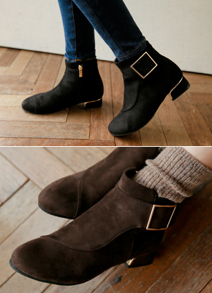 "Metal Point Raising Ankle Boots <font color=""#ed1558""><b>[Heel: 3cm]</b> <br></font>"