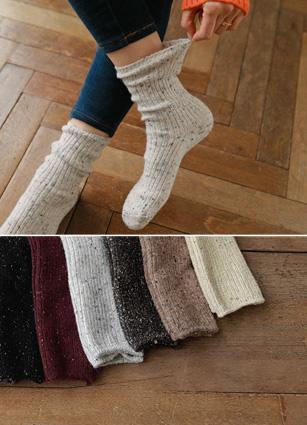 Bokashi Knit socks <br>