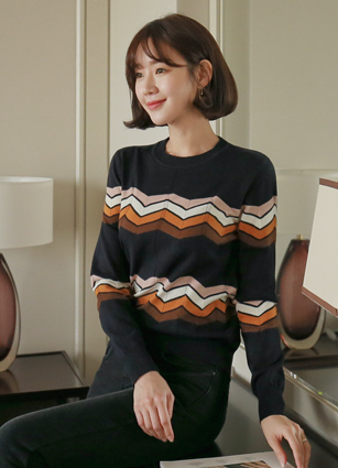 <b><FONT color=#980000>Today only! This price</font></b> <br> Ifon Appearance Zigzag Knit <br>