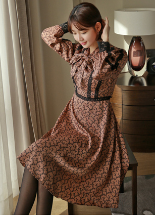 Page Race Appearance PRINTING Flare One-piece dress <br> <B>(S ~ L) / Sponsorship product</b> <br>