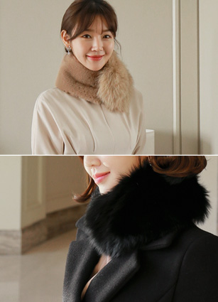 Mulled fox fur muffler <br>