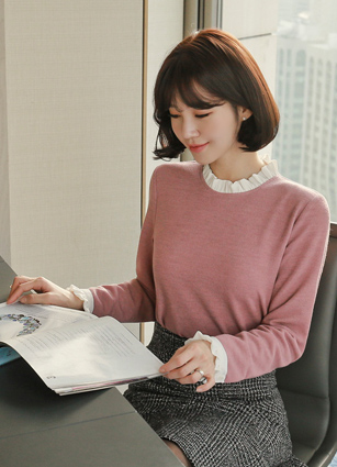 Darling Frill Appearance Blouse <br>