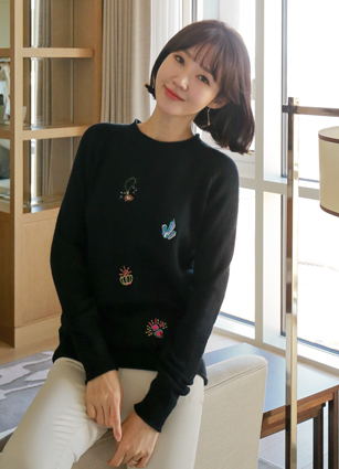Jewelry Ring Embroidery Knit <br> (Broadcast sponsorship) <br>