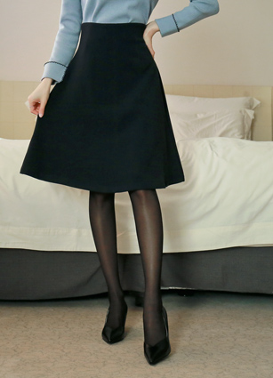 Ritchie Incision Flare Skirt <br> <B>(S ~ M)</b>