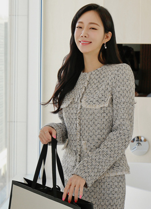 Chaner Fringe Pocket Tweed Jacket <B>(S, M)</b>