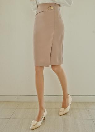 Delu Gold Ring Side Trim Skirt <B>(S, M, L)</b>