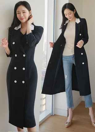 <b><FONT color=#980000>Limited to 10,000 yen discount</font></b> until 3/28 <br> Frida Double-button Kara Long One-piece dress <br> <B>(S ~ M)</b>