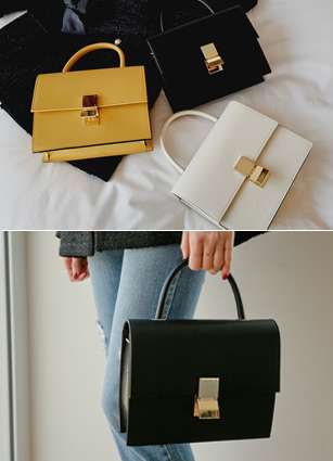Kate Goldtle Square Tote & Cross Bag <br>