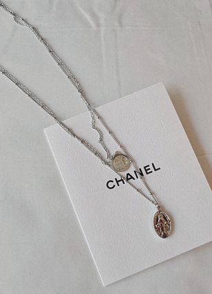 Petite Coin 2line Necklace <br>