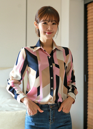 Picasso PRINTING Shirt Blouse <br> <b>(Items shipped same day)</b>