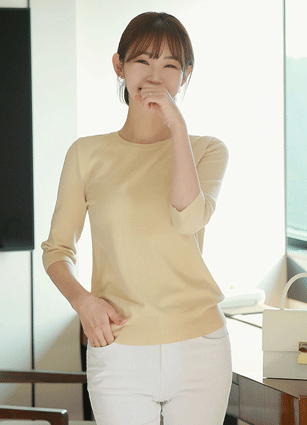 Sugarlet Soft 7Part Round Knit <br>