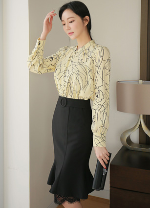 <b><FONT color=#980000>CodySET ◆ 10% discount</font></b> <br> Four Seasons Ribbon Tie Flower Blouse + <br> Bali Race Appearance Mermaid Skirt <br> <b>Broadcast Sponsorship product</b> <br>