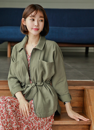 Days Waist string Tencel Safari Jacket <br>