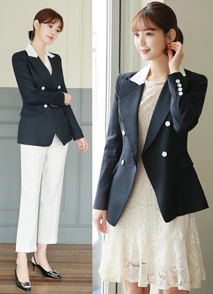 Cliff Appearance Linen Tailored Jacket <B>(S, M)</b> <br> <FONT color=#980000>◆ Remaining Quantity: Navy / M 1 piece</font> <br>