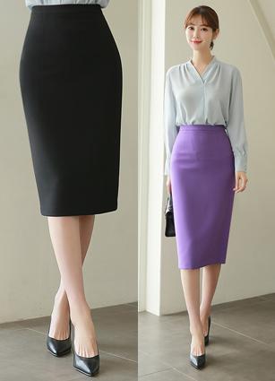 Vecchio Sophistication HLine Midi Skirt <br> <B>(S ~ L) / Sponsorship product</b>