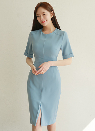 Korea government's tax policy. Incision One-piece dress <B>(S, M, L)</b>