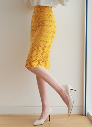 Cosmo Punching Lace H Skirt <B>(S, M</b> )