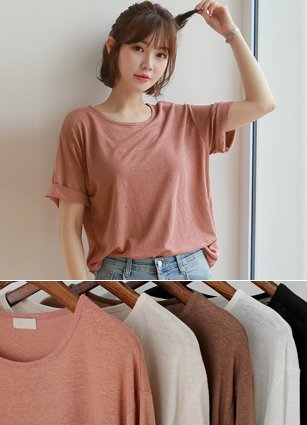 UNICK High Linen T-shirt <br>