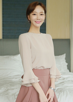 Fling Double Frill Sleeves Blouse