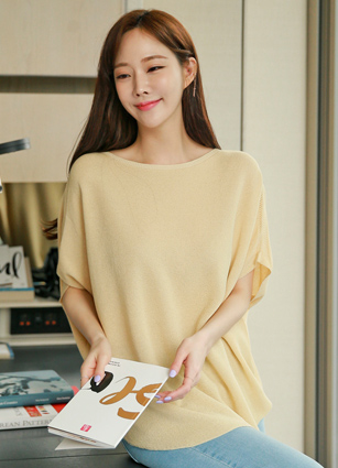 Round loose fit Ray Linen Knit