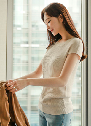 Cap sleeves Knit <br>