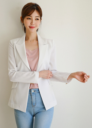 Knee One Button Slim Jacket <B>(S, M, L)</b>