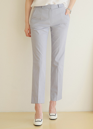 Daisy Hem Slit Date Slacks <B>(S, M, L)</b> <br> <FONT color=#980000>◆ Remaining Quantity: Light Blue / M 3 sheets</font> <br>
