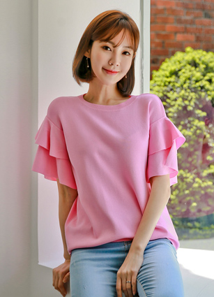 Sony Dual ruffles Viscose Color Knit <br> (Broadcast sponsorship) (same day delivery)
