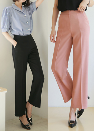 Vernon Straight 10Part Wide Slacks <B>(S, M, L)</b>