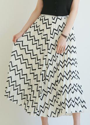 Hair band Wrinkles Long Skirt