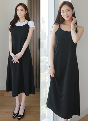 Dioras Silky Layered Slip One-piece dress