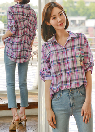 Retail rollup Check shirt <br> <b>Holiday Look</b>