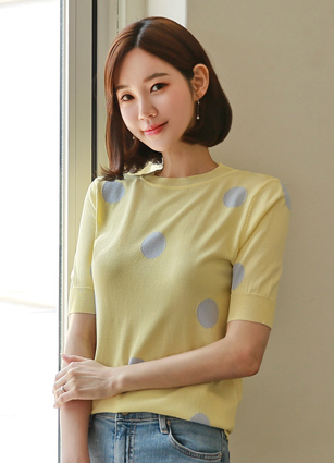 ♤ Same Day Shipping ♤ <br> Dot Love Point Knit <br>